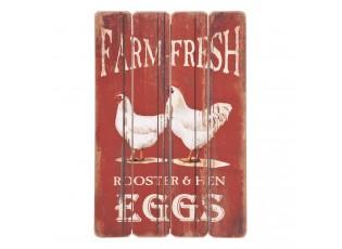 Cedule Farm fresh eggs - 40*1*60 cm