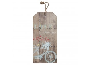 Dřevěná cedule Love - 30*2*66 cm