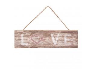 Cedule LOVE - 35*1*10 cm