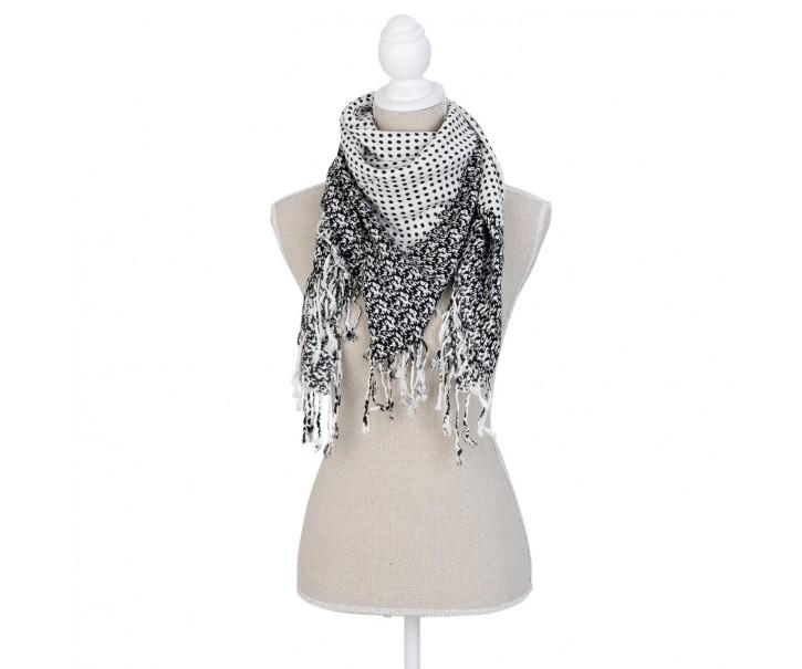 Šátek dotted white - 90*90 cm