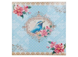 Plechová cedule Bird blue  - 29*2*29 cm