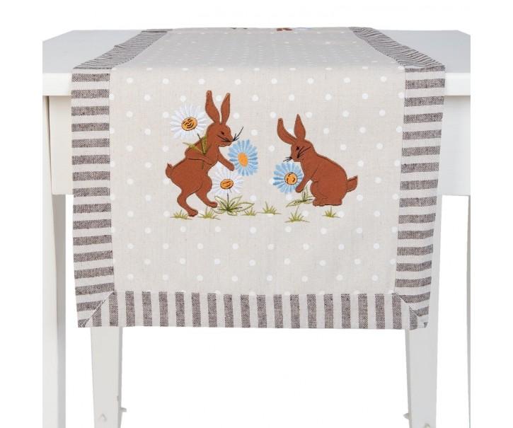Běhoun Rabbit grey - 40*120 cm
