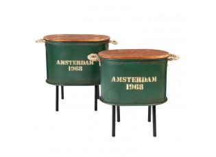 Set odkládacích stolků Amsterdam zelený