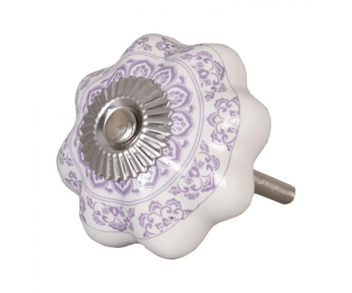 Keramická úchytka s ornamenty - Ø 4.5 cm