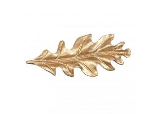 Kovová úchytka List zlatý  - 9*3*3 cm