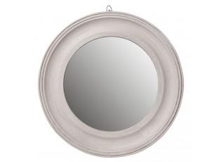 Šedé kulaté zrcadlo - Ø 40*3 cm