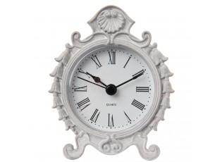 Stolní hodiny s šedou patinou - 8*3*9 cm