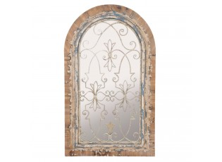 Zrcadlo Castle Glass s patinou - 86*7*146 cm