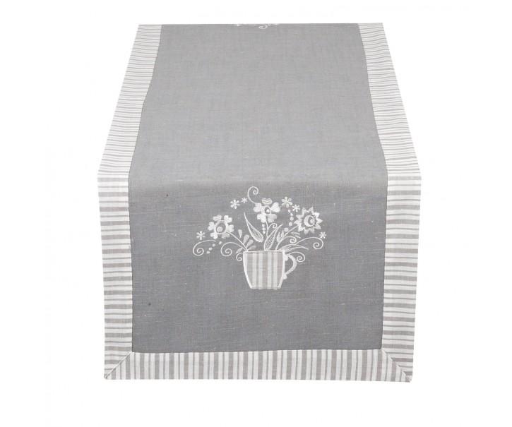 Běhoun na stůl Strips Grey - 40*120 cm