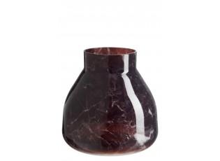 Skleněná váza MARBLE black - 19 × 20 × 20 cm