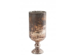 Skleněná váza ANTIQUE - 18 × 18 × 43 cm