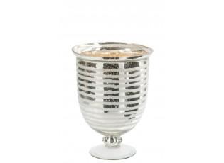 Skleněná váza Striped - 23 x 23 x 32 cm