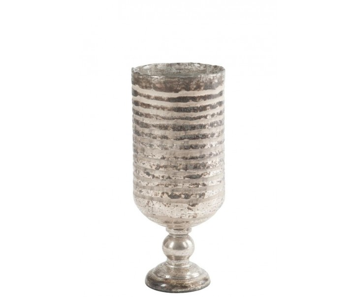 Skleněná váza Striped - 18 x 18 x 44 cm
