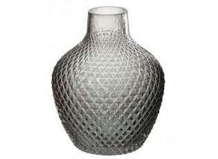 Skleněná váza Triangle grey - 17 x 17 x 20 cm
