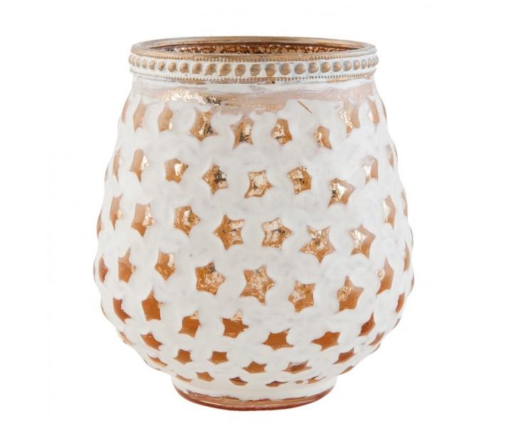Svícen na čajovou svíčku hvězdičky - Ø 9*10 cm