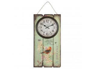 Nástěnná cedule s hodinami  - 30*5*60 cm