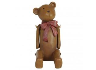 Dekorace Medvídek s mašličkou -15*9*18 cm