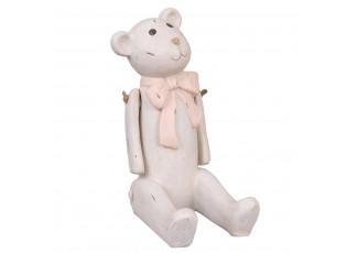 Dekorace Medvídek s mašličkou -14*9*18 cm