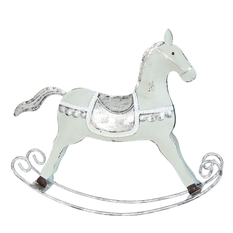 Dekorace houpací koník zelený - 20*4*18 cm