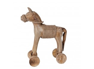 Dřevěný Kůň na kolečkách - 39*10*36 cm