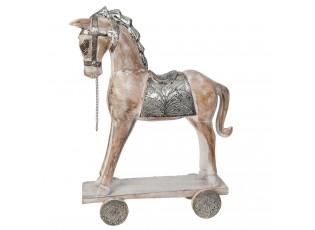 Dřevěný Kůň na kolečkách - 40*7*45 cm