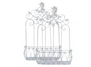 Kovové nástěnné truhlíky, držáky na květiny  - 57*25*82/49*22*72 cm