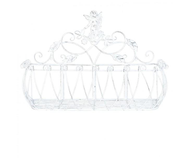 Kovové nástěnné truhlíky, držáky na květiny Angel - 66*25*43 cm