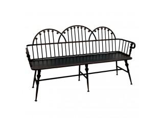 Kovová lavice Black - 167*47*95 cm
