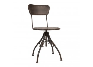 Kovová otočná židle Twisty - 41*43*78 cm