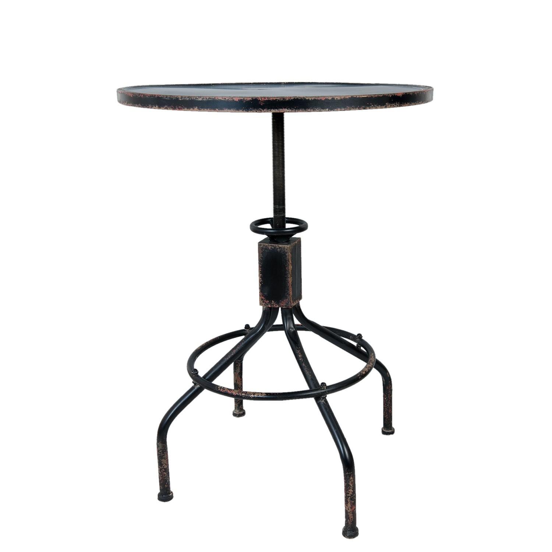 Kovový otočný stůl Twisty - Ø 60*85 cm