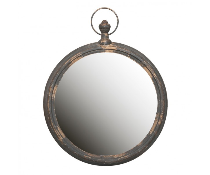 Kulaté retro zrcadlo - 62*6*78 cm