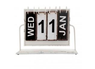 Kovový kalendář v retro stylu - 26*8*22 cm