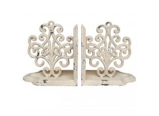 Kovové zarážky na knihy Ornament -2ks - 24*8*13 cm