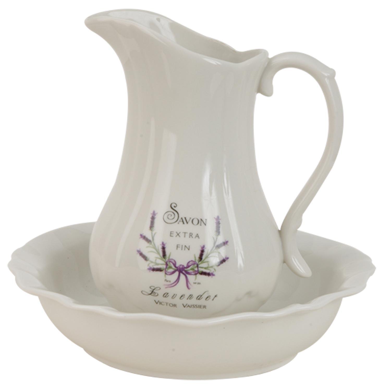Džbán a mísa Lavender - Ø 24*5 / Ø 12*21 cm
