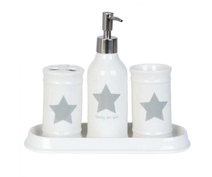 Koupelnový set Star - 26*10*21 cm / 0,2 / 0,3 L