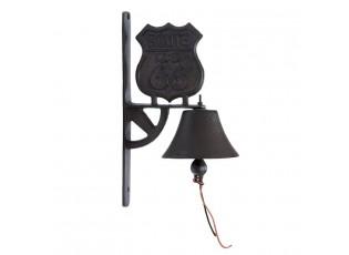Litinový zvonek Sova - 19*10*20 cm