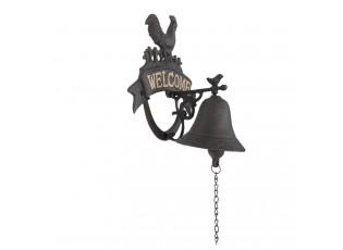 Litinový zvonek Kohout - 18*13*23 cm
