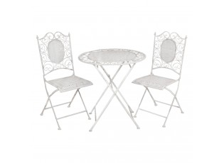 Zahradní souprava - stůl + 2 židle - Ø 70*75 / 2x 41*48*95 cm