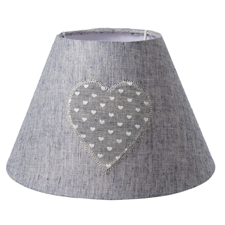 Stínidlo lampa Heart grey - Ø 22*14 cm