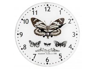 Hodiny Maison s motýlem - Ø 17*4 cm