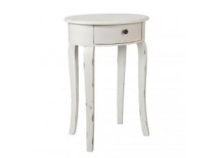 Oválný odkládací stolek se šuplíkem - 45*34*66 cm