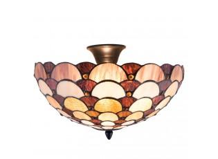 Závěsné světlo Tiffany Leafs - Ø 40*24 cm