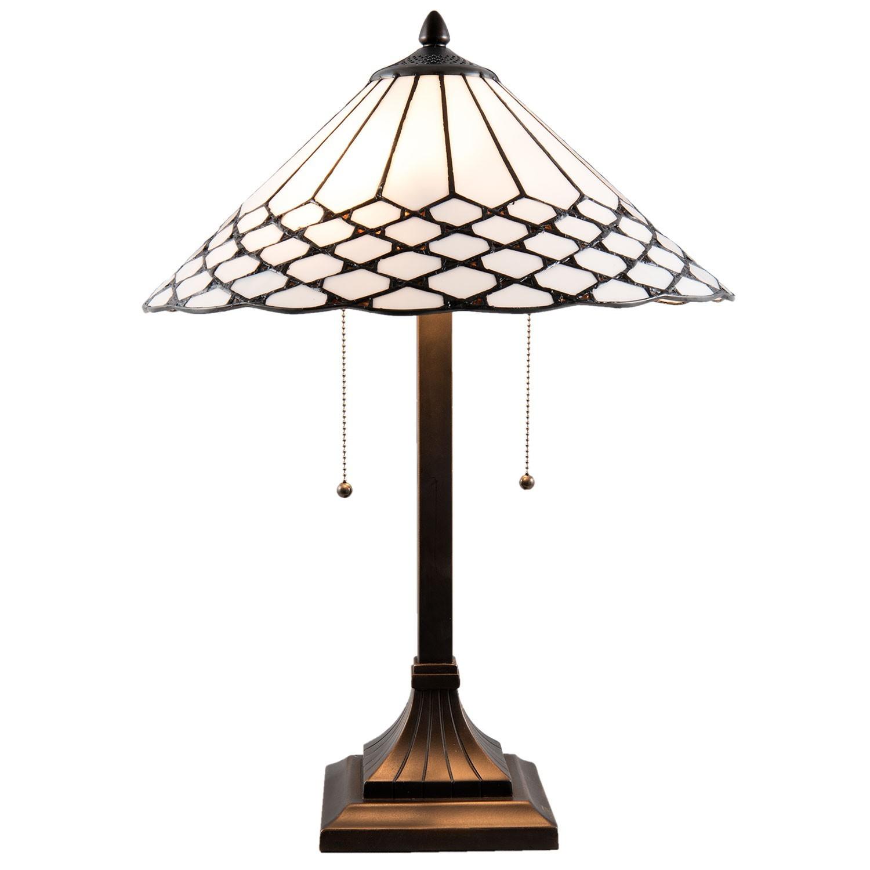 Stolní Tiffany lampa Roof - Ø 41*65 cm
