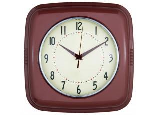 Nástěnné vínové hodiny v retro stylu - 28*8*28 cm