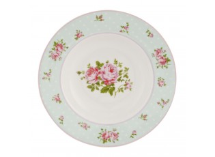Polévkový talíř Mint Rose - Ø 22 cm