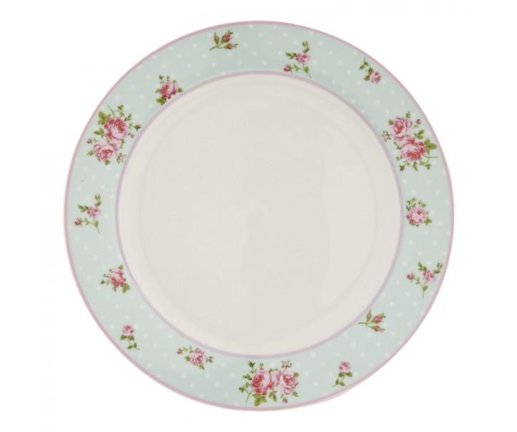 Jídelní talíř Mint Rose - Ø 26 cm