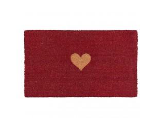 Kokosová rohožka Heart - 75*45*2 cm