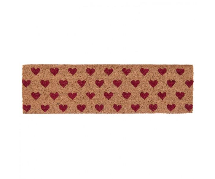 Kokosová rohožka Hearts - 75*22*2 cm