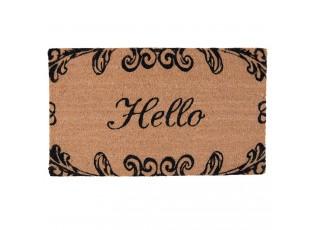 Kokosová rohožka Hello - 75*45*2 cm