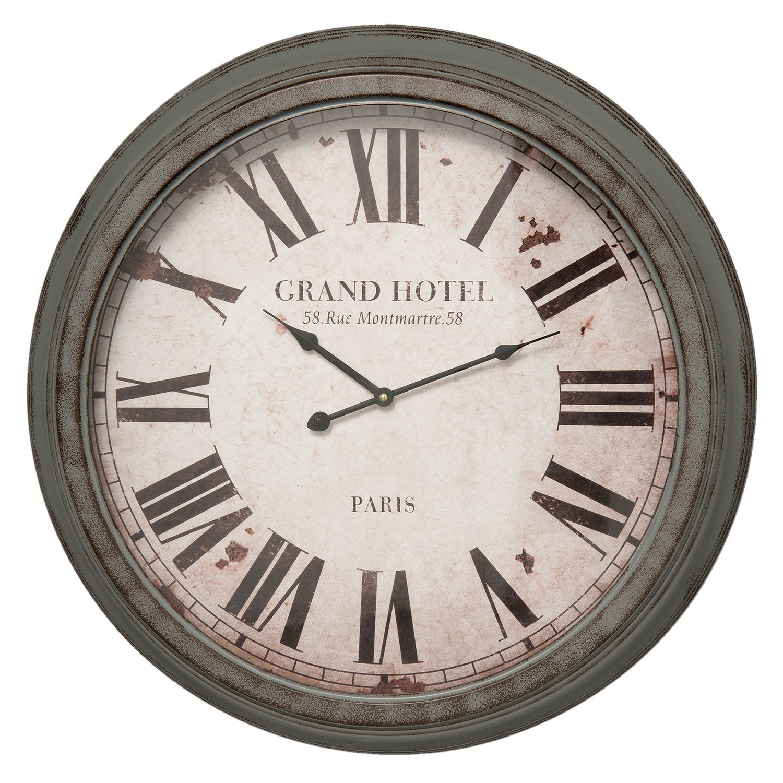 Kovové nástěnné hodiny Grand Hotel - Ø 64*10 cm